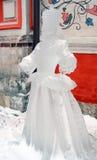 Isskulpturutställningen på det rött kvadrerar Royaltyfri Fotografi