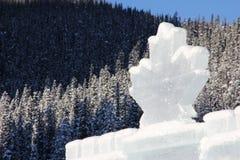 Isslott i de kanadensiska steniga bergen royaltyfri fotografi