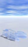 issmältning Arkivfoton