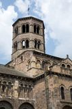 Issoire, France. Romanesque cathedrale of Saint Austremoine in the town Issoire, Auvergne, France Stock Photo