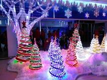 Isstadsvärld på Kuala Lumpur Christmas arkivfoton