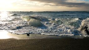 IsstrandIsland is- hav för sjö lager videofilmer