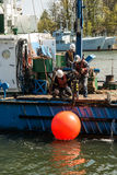Issue of navigational buoys Stock Photography