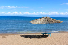 Issyk Kul beach Royalty Free Stock Photography