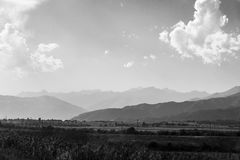 Issyk-Kul jeziora dolina Zdjęcie Royalty Free