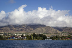 Issyk-Kul lake in Kyrgyzstan. Central Asia Royalty Free Stock Photo