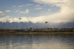 Issyk-Kul lake in Kyrgyzstan, , central Asia.  Royalty Free Stock Images