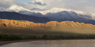 Issyk-Kul lake in Kyrgyzstan, central Asia royalty free stock photography