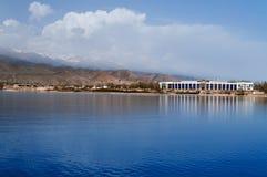 Issyk-kul. View of Issyk-kul lake in Cholpon-ata. Kyrgyzstan stock image