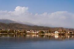 Issyk-kul. View of Issyk-kul lake in Cholpon-ata. Kyrgyzstan royalty free stock photos