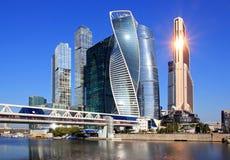 Ist das internationale oben genannte Geschäftszentrum Moskaus nur Liebe! lizenzfreie stockbilder