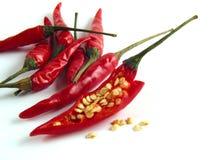 So ist dieses das Innere von chilis! Lizenzfreies Stockbild