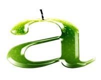 A ist für Apfel Stockbilder