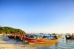 Ist hier der Pier für lokalen Fischer auch Lizenzfreies Stockbild