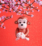 2016 ist Jahr des Affen Lizenzfreies Stockbild