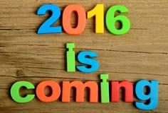 2016 ist kommendes Wort Stockbild
