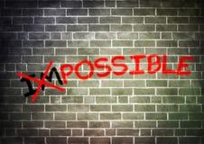 Ist nichts unmöglich Stockbild