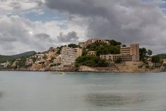 Coast of the balearic Island of Mallorca. This ist a Picture of the Coast of Mallorca from the Balearic islands in the mediterrean Sea in Europe. Millions of Royalty Free Stock Photos