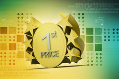 Ist prize, golden medal Royalty Free Stock Photos