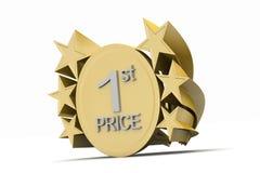 Ist prize, golden medel Stock Images