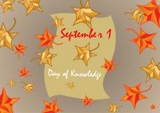 Ist 1. September der Tag des Wissens Auf lagerabbildung stock abbildung
