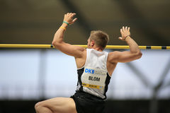 Istaf Berlin International Golden League Athletics. Rens Blom Netherlands competing in the pole vault at the Istaf Berlin International Golden League Athletics Royalty Free Stock Photo