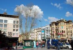Istambul,土耳其-在城市10附近走 04 2015年 免版税图库摄影