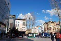 Istambul,土耳其-在城市10附近走 04 2015年 免版税库存图片