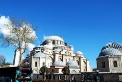 Istambul,土耳其-在城市10附近走 04 2015年 库存照片
