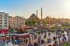 ISTAMBUL, TURKEY-MAY 07日2016年:美好的风景都市图, ci 库存照片