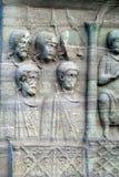 Istambul. The base of the Obelisk of Thutmosis III Royalty Free Stock Photo