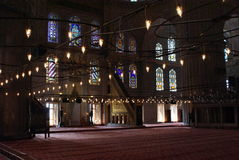 Istambul Blue Mosque Interior Stock Image
