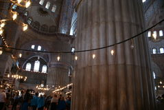 Istambul Blue Mosque Interior Stock Photo