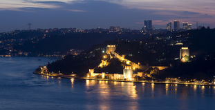 Istambul Bosphorus e fortaleza de Rumeli, Turquia Imagens de Stock