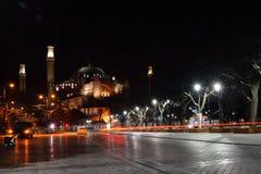 ISTAMBUL - 24 DE MARÇO: Hagia Sophia na noite, Istambul, Turquia Imagem de Stock Royalty Free