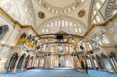 ISTAMBUL - 20 DE SETEMBRO DE 2014: Interior da mesquita azul O Mosq Fotos de Stock Royalty Free