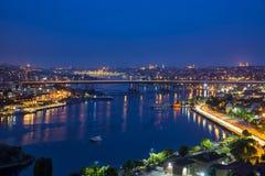 Istambul em a noite fotografia de stock