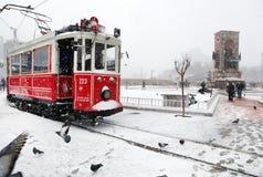 Istambul em um dia nevado Imagens de Stock Royalty Free