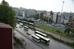 Istambul gatasikt Arkivbilder