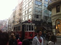 Istambul Istiklal abril de 2014 Imagens de Stock Royalty Free
