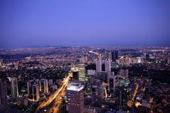 Istambul na noite imagens de stock royalty free