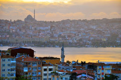 Istambul no por do sol Foto de Stock