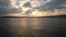 Istambul s? por do sol do lhouette Foto de Stock Royalty Free
