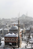 Istambul sob a neve Imagem de Stock