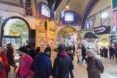 Istambul, Turkey: Mall Grand Bazaar (Kapalıcarsı) in Istanbul, Turkey Royalty Free Stock Photo