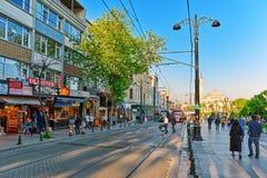 ISTAMBUL, TURKEY-MAY 07, 2016: Piękny krajobrazowy miastowy widok, ci Fotografia Royalty Free