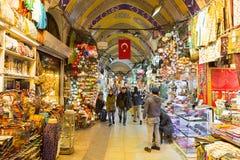 Istambul, Turkije: Wandelgalerij Grote Bazaar (Kapalıcarsı) in Istanboel, Turkije Royalty-vrije Stock Foto