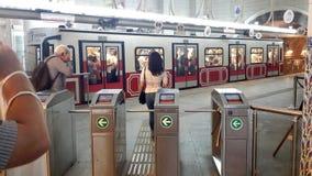 ISTAMBUL, TURQUIA, - 15 de abril de 2016 Teleférico em Istambul Fotografia de Stock Royalty Free