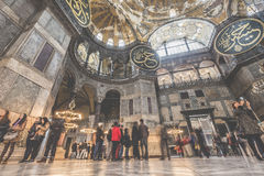 ISTAMBUL, TURQUIA - 13 DE DEZEMBRO DE 2015: O Hagia Sophia Fotos de Stock Royalty Free