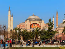 ISTAMBUL, TURQUIA - 23 DE JANEIRO: Hagia Sophia o 23 de janeiro de 2015 em Istambul, Turquia Foto de Stock